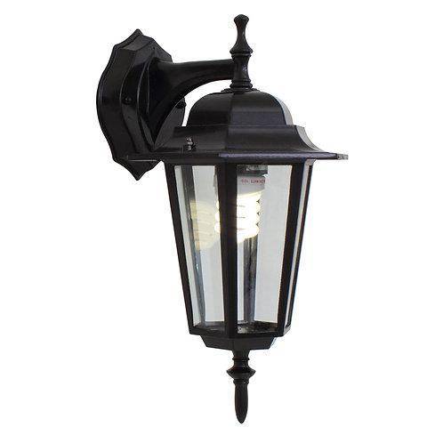 Lantern 6 Panel D/Facing Black