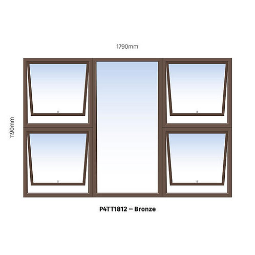 PTTTT1812 Aluminium Window Bronze 1790 x 1190