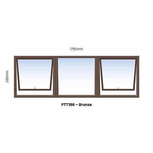 PTT186 Aluminium Window Bronze 1790 x 590