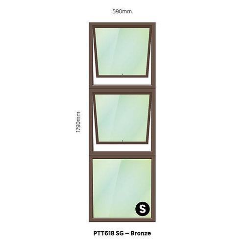 PTT618 Aluminium Window Bronze 590 x 1790