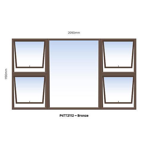 PTTTT2112 Aluminium Window Bronze 2090 x 1190