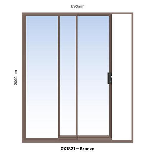 Aluminium Sliding Door Bronze 1790 x 2090