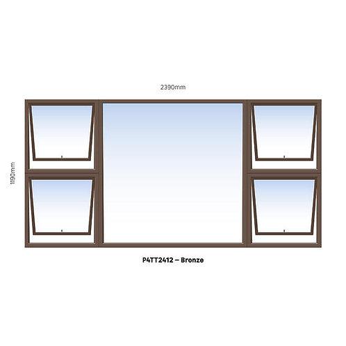 PTTTT2412 Aluminium Window Bronze 2390 x 1190
