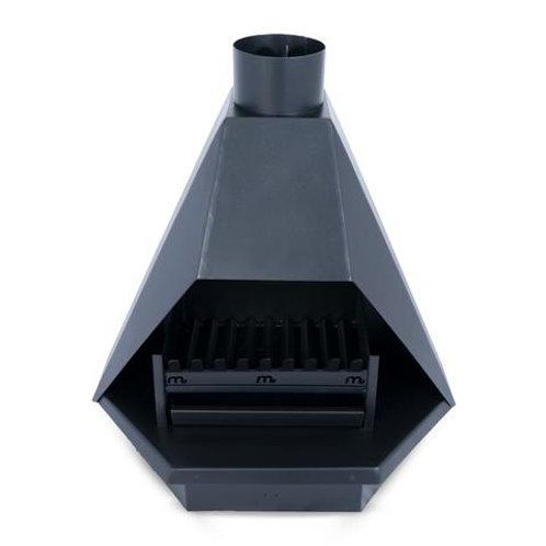 700 Pyramid Flatback Freestanding Fireplace