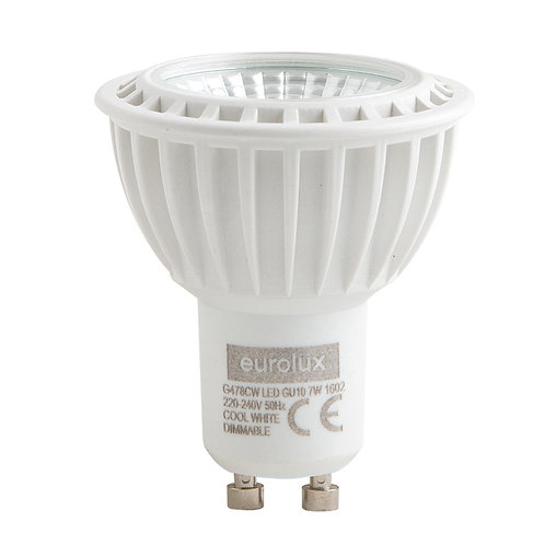 LED GU10 7w Cool White Dimmable