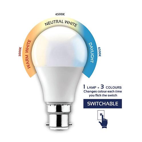 LED Switchable Opal A60 Globe B22 7w