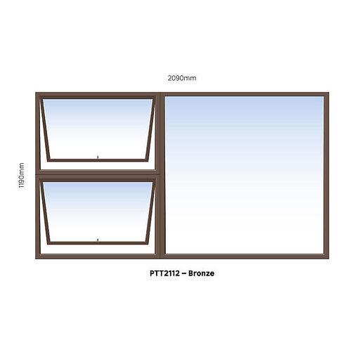 PTT2112 Aluminium Window Bronze 2090 x 1190