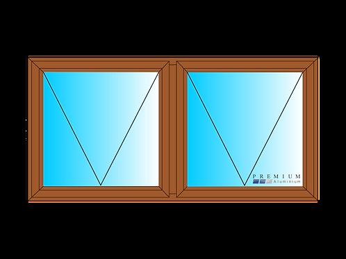 PTT126 Aluminium Window Bronze 1190 x 590