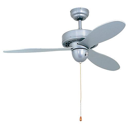 Airplane Ceiling Fan 3 Blades Silver
