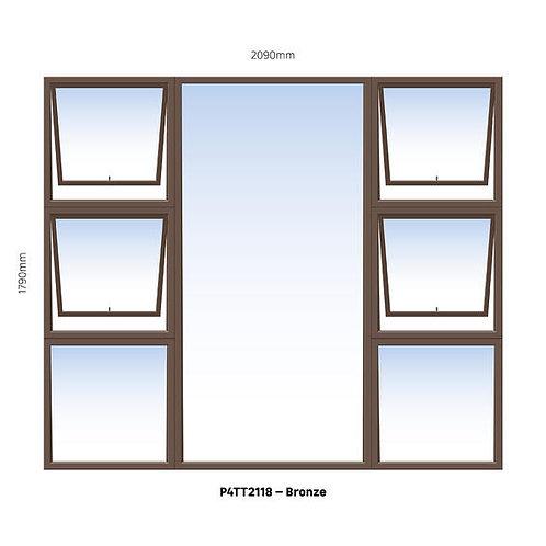 PTTTT2118 Aluminium Window Bronze 2090 x 1790