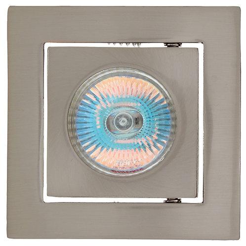 Tilt Square D/Light 102mm Satin Chrome