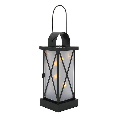 10Light LED Lantern Black Battery Operated