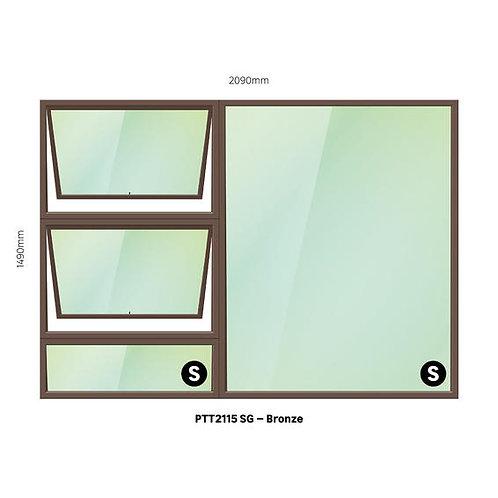 PTT2115 Aluminium Window Bronze 2090 x 1490