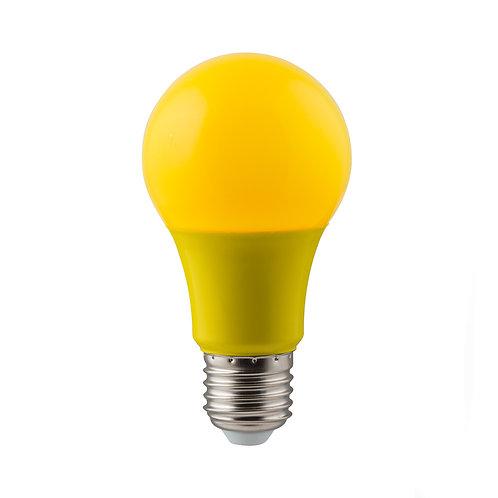LED Coloured A60 Globe E27 7w Yellow