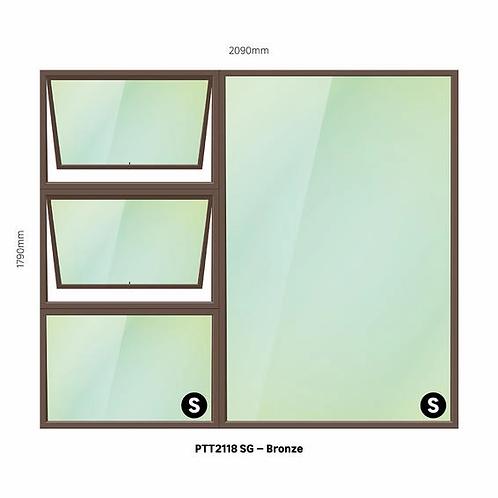 PTT2118 Aluminium Window Bronze 2090 x 1790