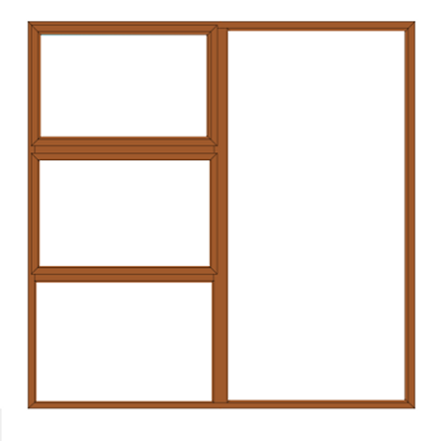 PTT1818 Aluminium Window Bronze 1790 x 1790