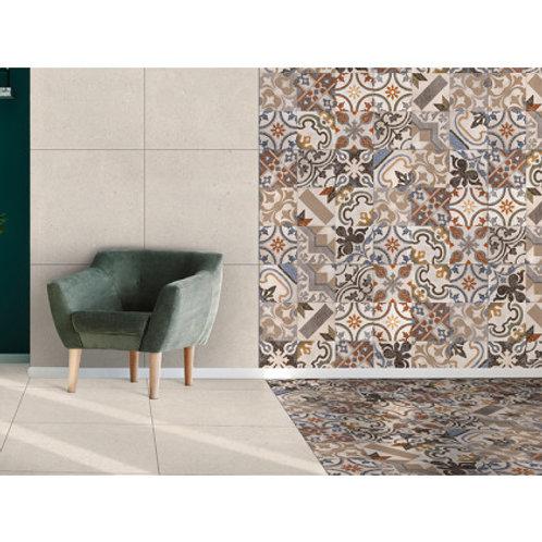 600 x 600 Nostalgia White Floor Tile per m2
