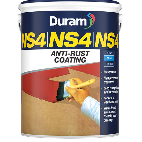 DURAM NS4 ANTI-RUST COATING 20LT - RED OXIDE