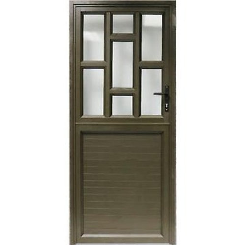 Staggered/Solid Aluminium Entrance Door