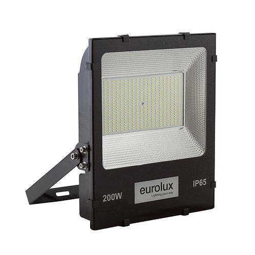 LED Floodlight 200w Black 6500K