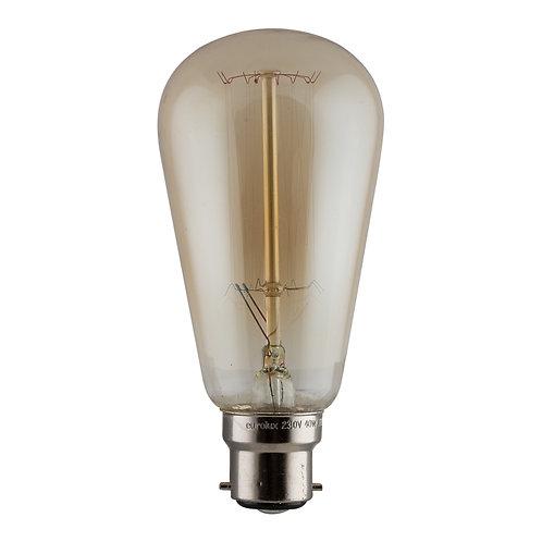 CB Amber Filament Pear-shape B22 40w