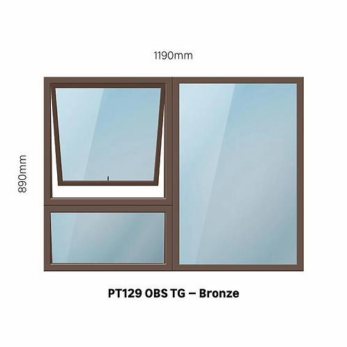 PT129 Aluminium Window Bronze 1190 x 890