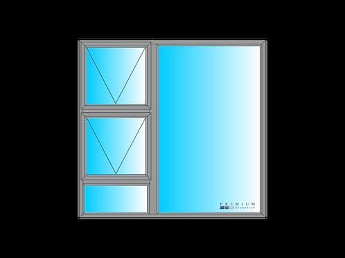 PTT1515 Aluminium Window Bronze 1490 x 1490
