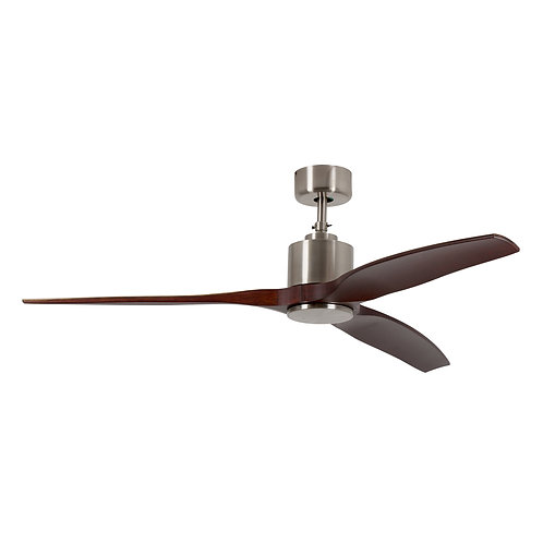 "3 ABS Wooden Blade 52"" TT Motor Dark Wood Satin Chrome"