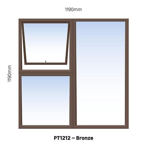PT1212 Aluminium Window Bronze 1190 x 1190