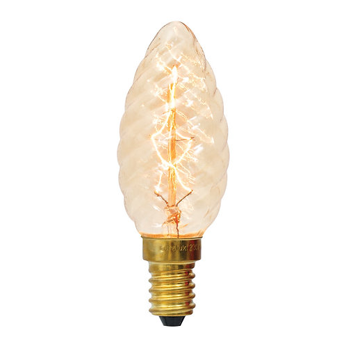CB Filament ZigZag Spiral Candle E14 40w