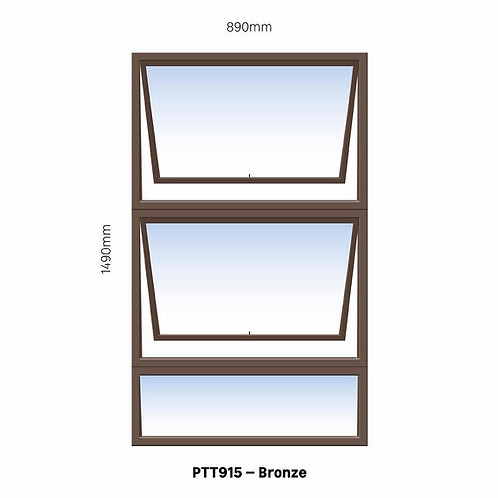 PTT915 Aluminium Window Bronze 890 x 1490