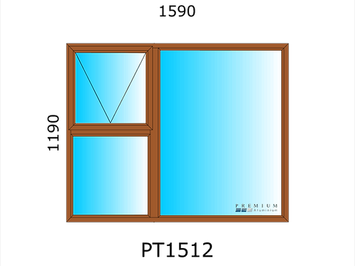 PT1512 Aluminium Window Bronze 1490 x 1190