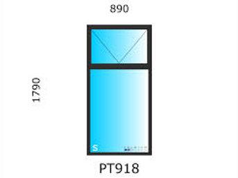 PT918 Aluminium Window Bronze 890 x 1790