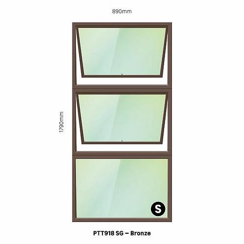 PTT918 Aluminium Window Bronze 890 x 1790