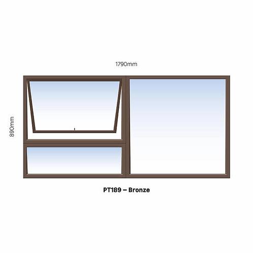 PT189 Aluminium Window Bronze 1790 x 890