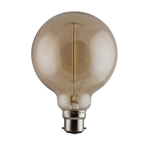 CB Amber Filament Mini Globe B22 60w