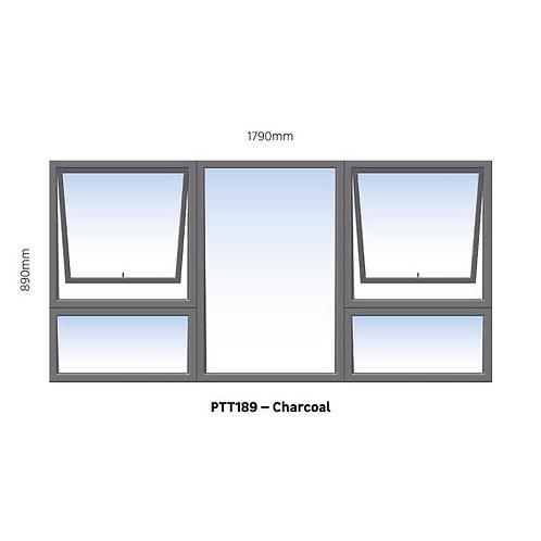 Window Aluminium PTT189 Charcoal