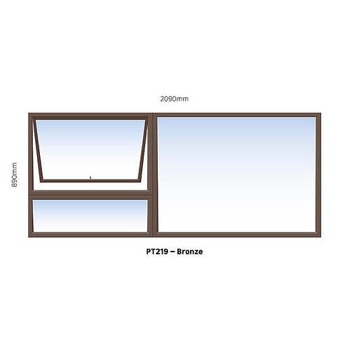 PT219 Aluminium Window Bronze 2090 x 890