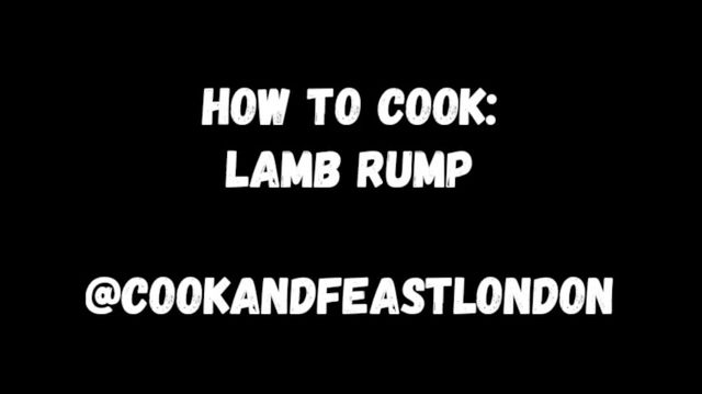 How to cook Lamb Rump