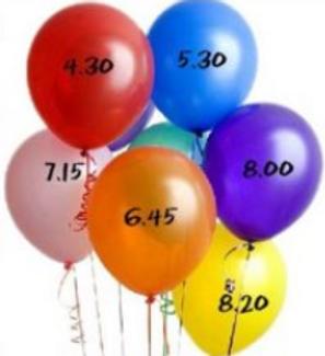 Sleepover party balloons