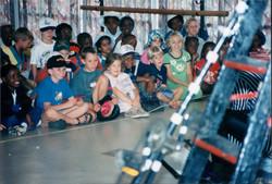 Children watching Ingo the Clown.