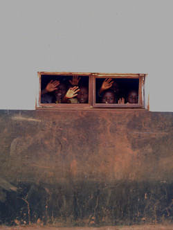 Orphans at Chikokwa School.  Zimbabwe. 2012 red