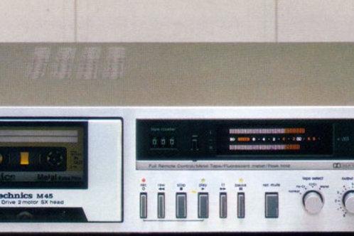 Technics M45 - Manual - Stereo Cassette Deck