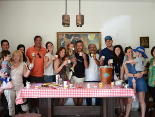 Private Leich Cream tasting seminar for this smiling family from San Francisco