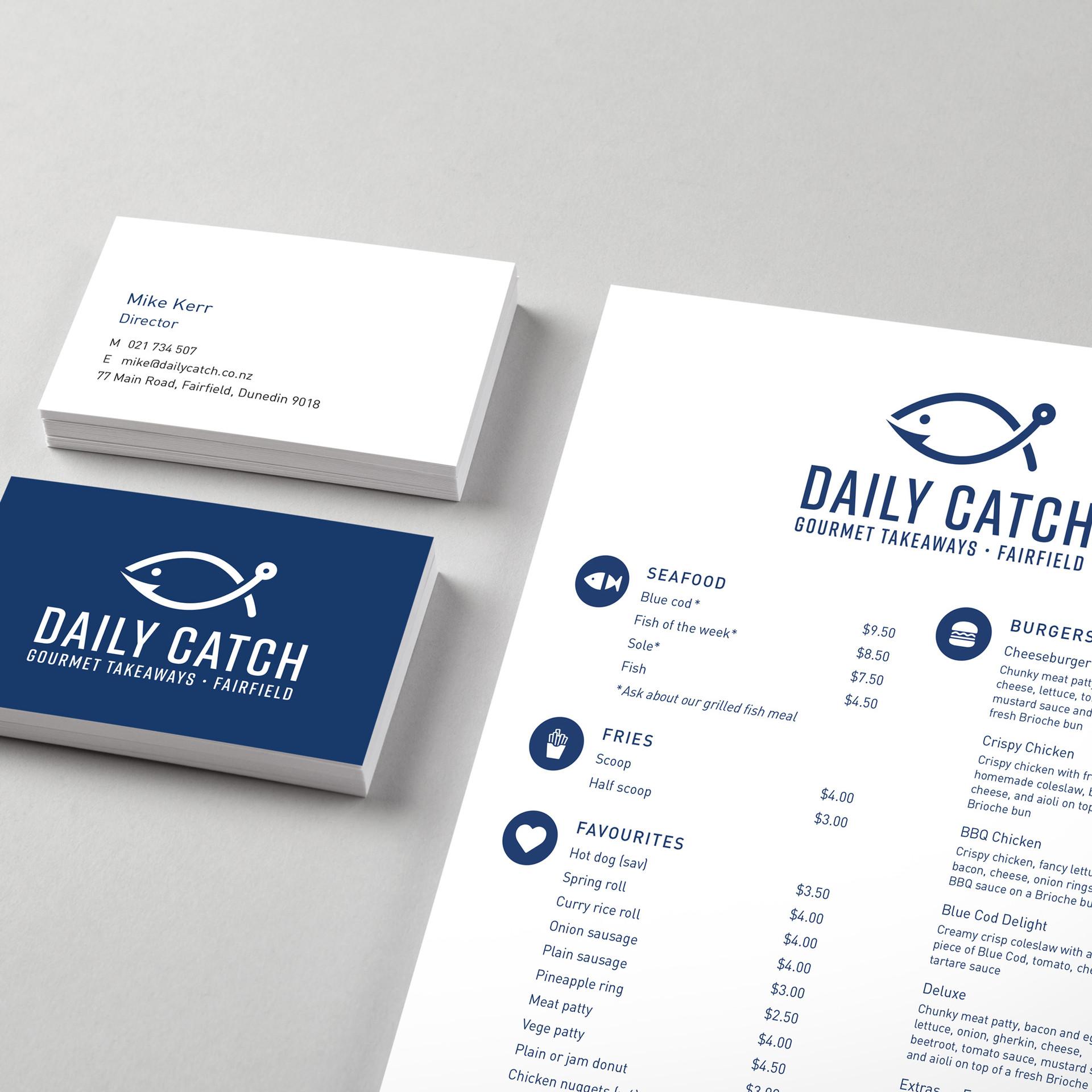 Business Cards & Menu