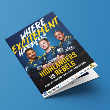 Highlanders Match Programme