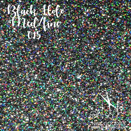 Oh! So Jo... Nail Goodies - Black Holo Med/Fine 015 glitter