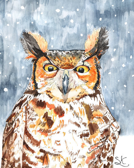 Owl Signed Print