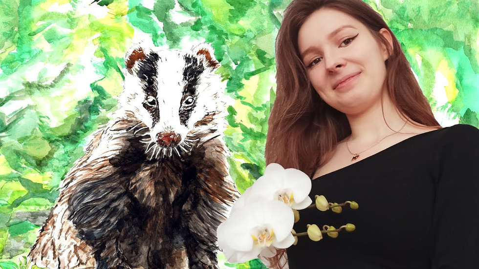 Badger Painting Time Lapse