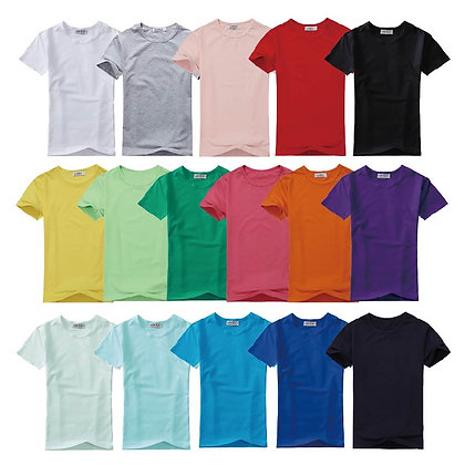 G00001 CVC Short Sleeves Round Neck Plain T-shirt